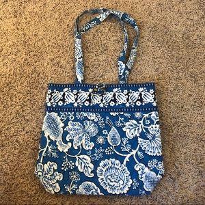 Vera Bradley Over the Shoulder Blue Tote Bag Purse
